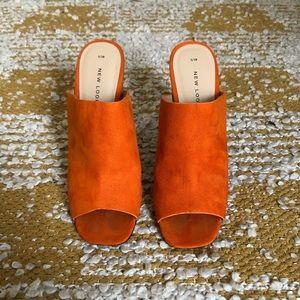 Zara Suede Heels w Reflective Heel